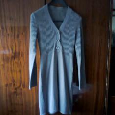 Rochita tricotata, rochie gri - Rochie tricotate, Marime: 40, Midi