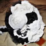 Buchet din Flori Brose - Accesoriu Nunta Mireasa - Artizanat - Handmade : Black Beauty