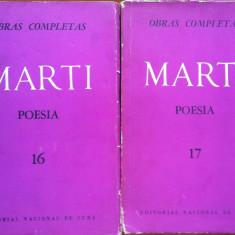 OBRAS COMPLETAS - POESIA - Jose Marti (carti in limba spaniola) - Carte in spaniola