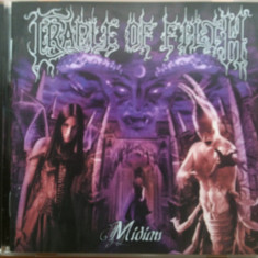 CRADLE OF FILTH - MIDIAN, CD original Music From Nations, in stare foarte buna - Muzica Rock
