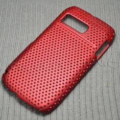 Husa plastic mesh Nokia E6 + folie ecran + expediere gratuita Posta - Husa Telefon Nokia, Rosu