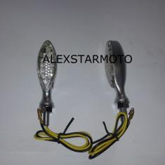 SEMNALE /SEMNALIZARI LED MOTO SCUTER ATV ARGINTIU - Semnalizare Moto