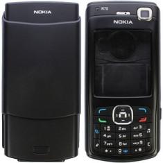 carcasa noua si tastatura neagra Nokia n70   n 70