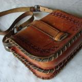 Frumoasa poseta din piele - Geanta vintage