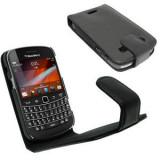 Husa toc Blackberry 9900 9930 neagra piele ecologica