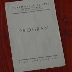 Program - Filarmonica de stat George Enescu - stagiunea 1963 - 1964 - 4 pagini
