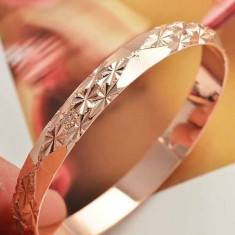 Bratara placata cu aur 14K; 58 mm diametru interior - Bratara placate cu aur