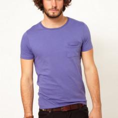 Tricou asos - Tricou barbati, Marime: L, Culoare: Mov, Maneca scurta