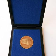 MEDALIE ROMANIA Banca Nationala INAUGURAREA MUZEULUI BNR 1997 38 mm IN CUTIE ** - Medalii Romania