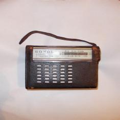 RADIO SOKOL, PRIMUL APARAT RADIO DIN SERIA SOKOL, ANUL 1963 !! FUNCTIONEAZA