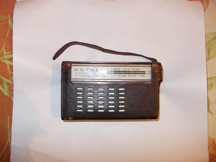 RADIO SOKOL , PRIMUL APARAT  RADIO DIN SERIA SOKOL , ANUL 1963  !! FUNCTIONEAZA