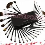 Set 32 pensule machiaj Fraulein Studio Black pensule make up par natural