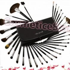 Set 32 pensule machiaj Fraulein Studio Black pensule make up par natural, Fraulein38