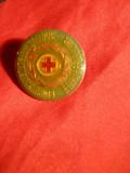 Insigna Concursul Grupelor Sanitare -Etapa Republicana Cruce Rosie, Romania de la 1950
