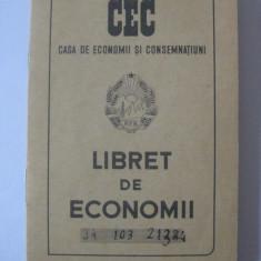 LIBRET DE ECONOMII CEC DIN ANII 50 CARE A APARTINUT ARTISTEI ANGELA MOLDOVAN, Documente