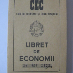 LIBRET DE ECONOMII CEC DIN ANII 50 CARE A APARTINUT ARTISTEI ANGELA MOLDOVAN - Pasaport/Document