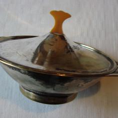 Vas din alama argintata stil Art Nouveau