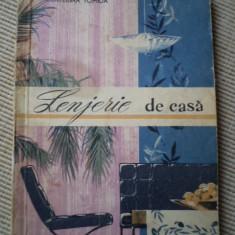 Lenjerie de casa Ecaterina Tomida carte hobby modele editura tehnica 1962
