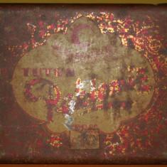 RARĂ! CUTIE PEKLEMIZ PT. TUTUN DE PE ADA KALEH, TABLĂ, VIZITĂ CAROL II, 100 GR!