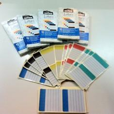 Etichete colorate Herlitz 70 / 70 mm, 40 buc / set