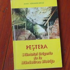 Carte ---- Arhim. Veniamin Micle - Pestera Sfantului Grigorie de la Manastirea Bistrita - 1995 - 126 pagini