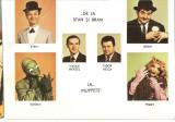 CPI (B4010) VASILE MENZEL SI TUDOR HEICA, DE LA STAN SI BRAN LA... MUPETS, KERMIT, PIGGY, CARTE POSTALA ILUSTRATA, NECIRCULATA, CASA FILMULUI ACIN