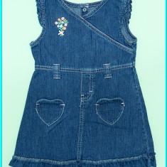 Sarafan—rochita blugi, subtire, broderie, CARTER'S → fetite | 18—24 luni | 92 cm