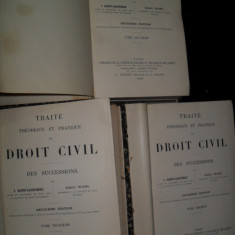 Traite theorique et pratique de droit civil DE SUCCESSIONS, 1899 - Carte Drept civil