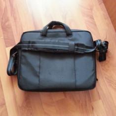 Geanta laptop, 18 inch, Nailon, Negru