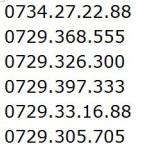 Cartele vodafone, numere de exceptie