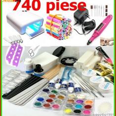 KIT MANICHIURA SET UNGHII FALSE GEL PILA ELECTRICA,LAMPA UV, BeautyUkCosmetics