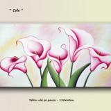 Tablou floral modern - Cale - ulei pe panza 120x60cm LIVRARE GRATUITA 24-48h - Reproducere