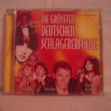 Vand CD Die Grossten Deutschen Schlagererfolge,hituri muzica germana,-10 roni!!!