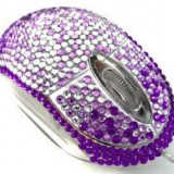 Mouse cu cristale Swarovski- Pentru Valentines Day, Martisor - Iubita / Prietena Amica, USB, Optica, 1000-2000, Ultra