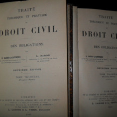 Traite theorique et pratique de droit civil DES OBLIGATIONS, 1905 - Carte Drept civil
