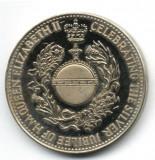 ANGLIA MAREA BRITANIE MONEDA JUBILIARA ANIVERSAREA 1952-1977 REGINA ELISABETA STARE XF AUNC