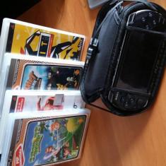 PSP 3004 Slim + 4 jocuri + HUSA