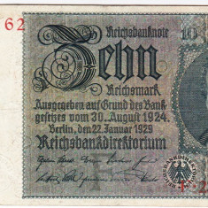 Germania bancnota 10  marci 1929