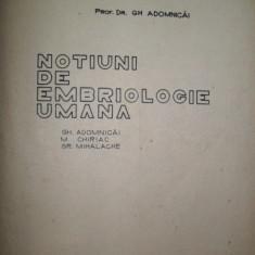 Prof. Adomnicai-Notiuni de embriologie umana-1978