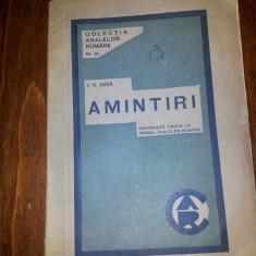 I G DUCA AMINTIRI - Carte veche