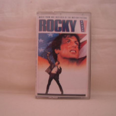 Vand caseta audio Rocky V, originala, soundtrack - Muzica soundtrack capitol records, Casete audio