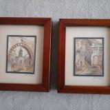 Set tablouri - tapiterie paie, inramate (semnate AH Mendoza) - Tapiterie Goblen