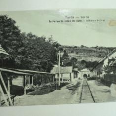 TURDA - TORDA - INTRAREA IN MINA DE SARE - PERIOADA INTERBELICA - Carte Postala Transilvania dupa 1918
