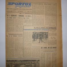 Ziarul Sportul Popular/02.06.1966/ Rapid Bucuresti - VORWARTS Berlin/ RFG-ROMANIA