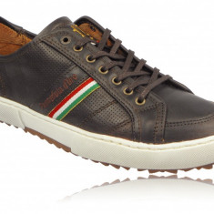 41_Adidasi Originali Pantofola d'Oro_adidasi piele_barbati_maro_cutie - Adidasi barbati Polo By Ralph Lauren, Piele naturala