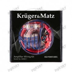 Kit cabluri amplificator auto, Kruger&Matz, KM0011-400351 - Elemente montaj audio auto