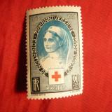 Serie 75 Ani Cruce Rosie 1939 Franta, 1 val.sarniera