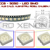 SET 10 BUC LED LEDURI SMD PLCC6 5050 - ILUMINARE INTERIOR AUTO, BORD