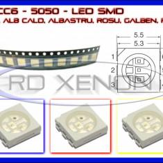 SET 10 BUC LED LEDURI SMD PLCC6 5050 - ILUMINARE INTERIOR AUTO, BORD - Lumini interior auto ZDM, Universal
