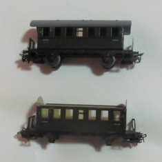 Lot 2 vagoane calatori, Marklin - scara HO - Macheta Feroviara Marklin, 1:87, H0 - 1:87